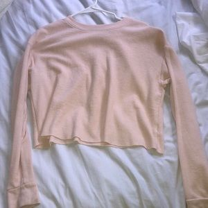 Cute cropped pink long sleeve